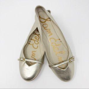 Sam Edelman Alora Gold Ballet Flat